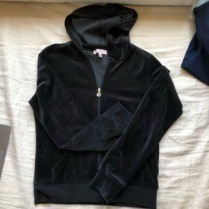 Black Velour Juicy Sweatsuit Brand New